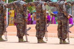 Soldiers In A Training Royalty Free Stock Photo