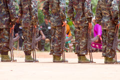 Soldiers In A Training Royalty Free Stock Image