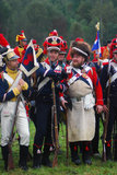 Soldiers in uniform. Borodino reenactment Stock Photography