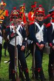 Soldiers in uniform. Borodino reenactment Royalty Free Stock Image
