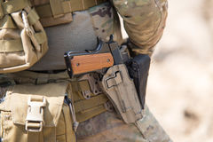 Soldiers in US Army Special Forces uniform Stock Images