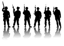 Soldiers vector Stock Images