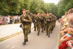 Soldiers on Veterans Day in Holland Royalty Free Stock Images