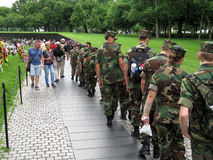 Soldiers at the Vietnam War Memorial Royalty Free Stock Photos