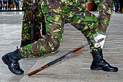 Soldiers and weapons 3 Stock Photography