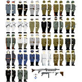 The soldiers of the Wehrmacht during the Second World War. Uniforms and weapons of soldiers and officers of the Wehrmacht in the Second World War. The Royalty Free Stock Photography