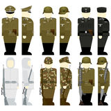 The soldiers of the Wehrmacht times the 2nd World War. Uniforms and weapons of soldiers and officers of the Wehrmacht in the Second World War. The illustration Stock Images