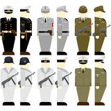 The soldiers of the Wehrmacht times the 2nd World War-2. Uniforms and weapons of soldiers and officers of the Wehrmacht in the Second World War. The illustration Stock Photo