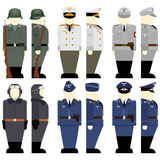 The soldiers of the Wehrmacht times the 2nd World War-3. Uniforms and weapons of soldiers and officers of the Wehrmacht in the Second World War. The illustration Stock Photos