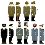 The soldiers of the Wehrmacht times the 2nd World War-1. Uniforms and weapons of soldiers and officers of the Wehrmacht in the Second World War. The illustration Stock Photos