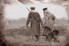 Soldiers of WWI Royalty Free Stock Image