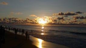 Sole ad un seabeach fotografia stock