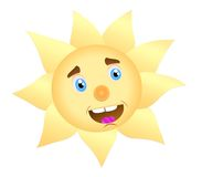 Sole allegro illustrazione di stock