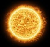 Sole arancio luminoso e caldo Fotografia Stock Libera da Diritti