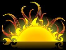 Sole astratto illustrazione vettoriale