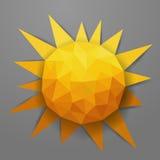 Sole astratto di estate del triangolo di vettore Fotografie Stock Libere da Diritti