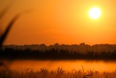 Sole aumentare in primo mattino immagini stock libere da diritti