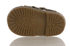 Sole of a baby shoe Royalty Free Stock Image