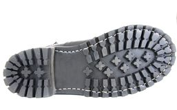 Sole black leather boot royalty free stock photo
