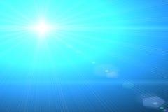 Sole blu illustrazione di stock