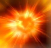 Sole caldo Immagini Stock