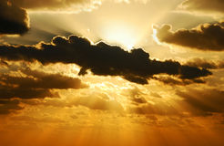 Sole d'esplosione Fotografia Stock Libera da Diritti