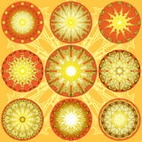 Sole decorativo del pizzo Illustrazione Vettoriale