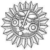 Sole del fiore Immagine Stock