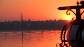 Sole del fiume di alba di tramonto, Dnepr 2 archivi video