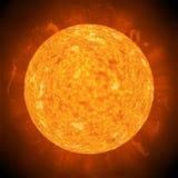 Sole del pianeta Immagine Stock