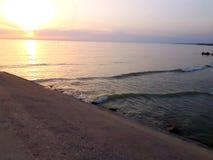 Sole del vento del mare di alba del paesaggio Fotografie Stock