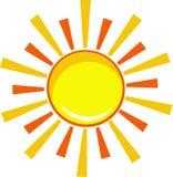 Sole dell'icona illustrazione di stock