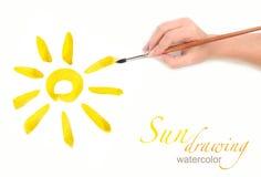 Sole dell'illustrazione di spazzola Immagini Stock