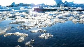 Sole dell'Islanda del lago ice archivi video
