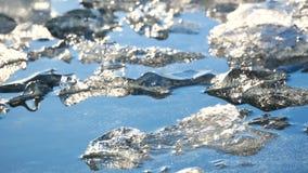 Sole dell'Islanda del lago ice stock footage