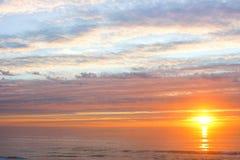 Sole dell'oceano Pacifico Fotografia Stock