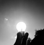 Sole della lampadina Fotografie Stock