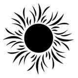Sole della siluetta Fotografia Stock