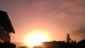Sole di buongiorno Fotografia Stock