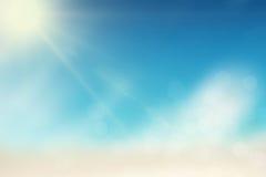 Sole di estate con le luci del bokeh fotografia stock libera da diritti