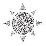 Sole di forma messo icone di estate Fotografie Stock