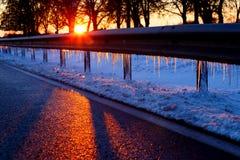 Sole di inverno fotografie stock