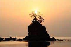 Sole di mattina alla costa di Amaharashi Fotografie Stock