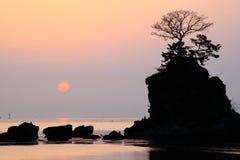 Sole di mattina alla costa di Amaharashi Fotografia Stock