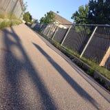 Sole di mattina nella città Immagini Stock