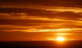 Sole di mezzanotte in Islanda di nordest Fotografie Stock Libere da Diritti