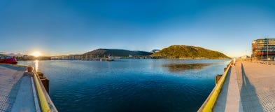 Sole di mezzanotte in Tromso, Norvegia Fotografia Stock