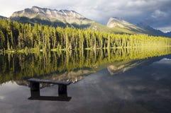Riflessione del lago honeymoon Fotografie Stock