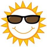 Sole di smiley con gli occhiali da sole Immagini Stock