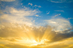 Sole di tramonto Immagine Stock Libera da Diritti